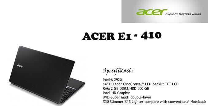 Fitur Acer Aspire E1-410