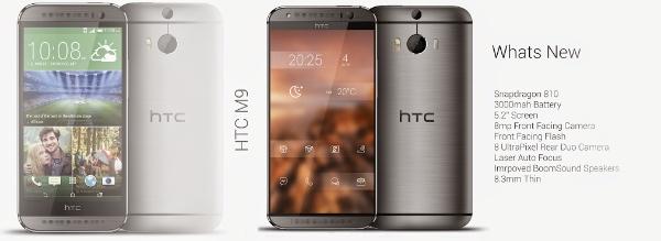 Desain HTC One M9