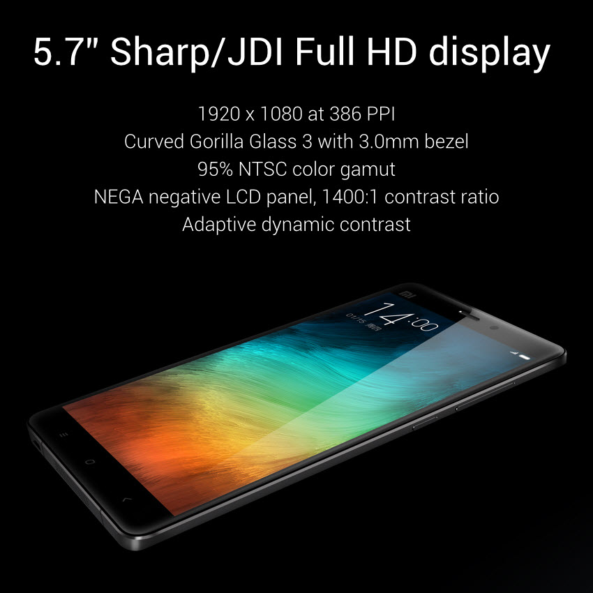 Desain Xiaomi Mi Note