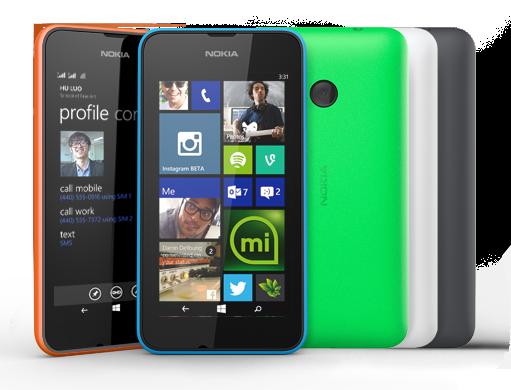 Desain Nokia Lumia 530