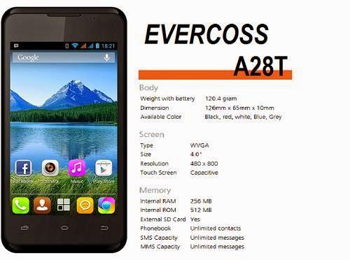 Spesifikasi Evercoss A28T