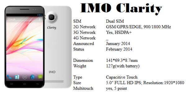 Spesifikasi IMO Clarity