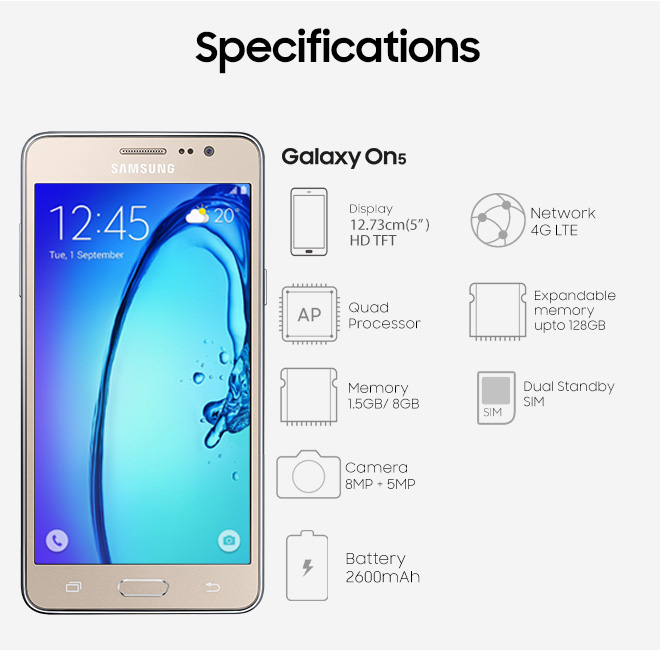 Spesifikasi Samsung Galaxy On5