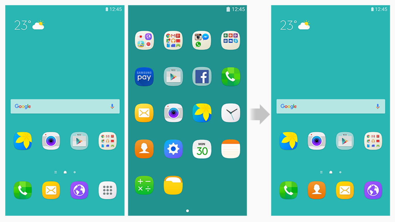 APP Drawer Galaxy S7