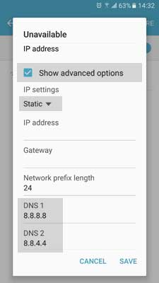 Mengubah DNS Android