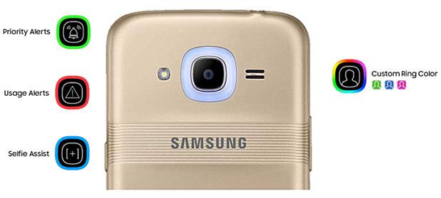 Fitur Glow Samsung Galaxy J2 (2016)