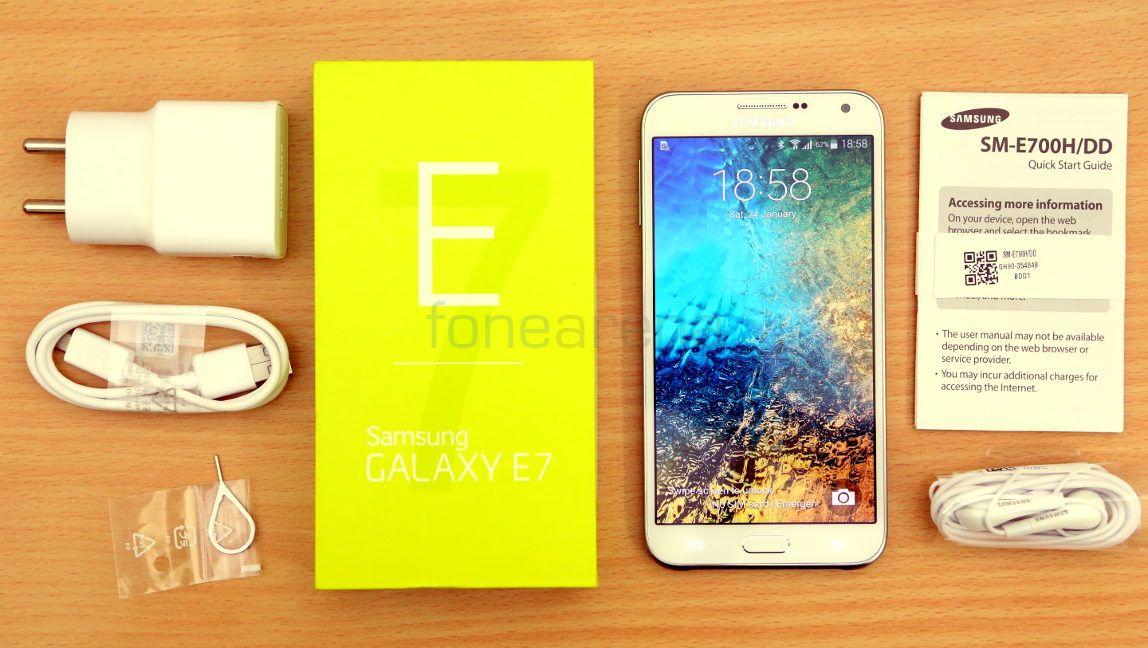 Kelengkapan Samsung Galaxy E7