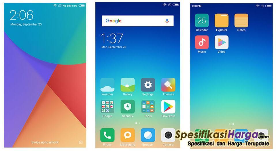 Antarmuka Xiaomi Redmi Note 5A Prime